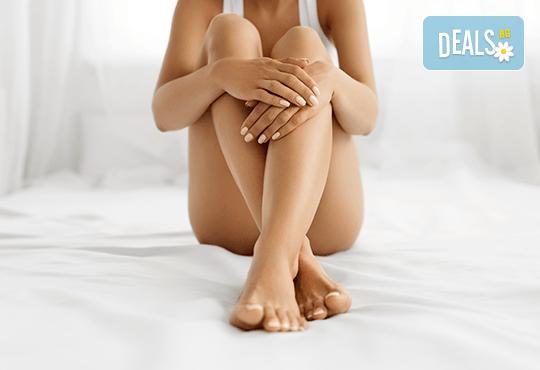 Кавитация, ръчен антицелулитен масаж, вендузи и термо маска за намаляване на мастните депа на бедра и седалище в Wellness Center Ganesha Club! - Снимка 1