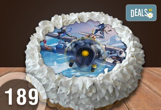 Детска торта с 8 парчета с крем и какаови блатове + детска снимка или снимка на клиента, от Сладкарница Джорджо Джани - Снимка 28