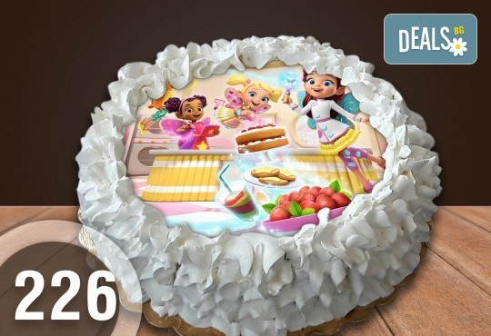 Детска торта с 8 парчета с крем и какаови блатове + детска снимка или снимка на клиента, от Сладкарница Джорджо Джани - Снимка 37