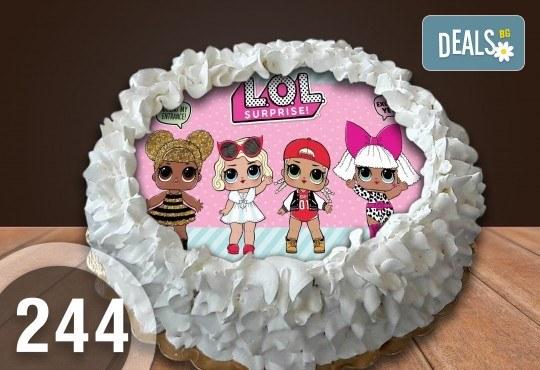 Детска торта с 8 парчета с крем и какаови блатове + детска снимка или снимка на клиента, от Сладкарница Джорджо Джани - Снимка 5