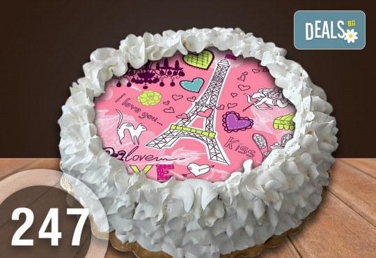 Детска торта с 8 парчета с крем и какаови блатове + детска снимка или снимка на клиента, от Сладкарница Джорджо Джани - Снимка 43