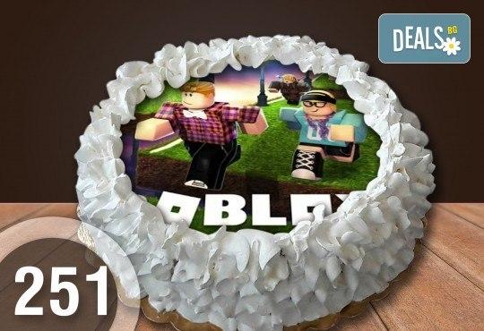 Детска торта с 8 парчета с крем и какаови блатове + детска снимка или снимка на клиента, от Сладкарница Джорджо Джани - Снимка 4