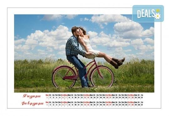 Лукс подарък! 6-листов супер луксозен пейзажен календар със снимки на клиента, отпечатани на гланц хартия от Офис 2 - Снимка 3