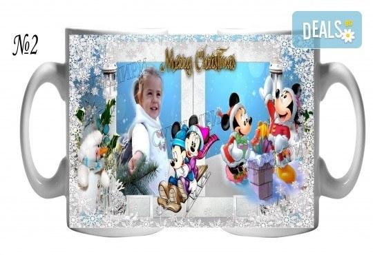За Коледа! Празнични чаши за подарък на малки и големи + снимка и надпис от Сувенири Царево - Снимка 3