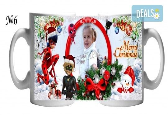 За Коледа! Празнични чаши за подарък на малки и големи + снимка и надпис от Сувенири Царево - Снимка 2