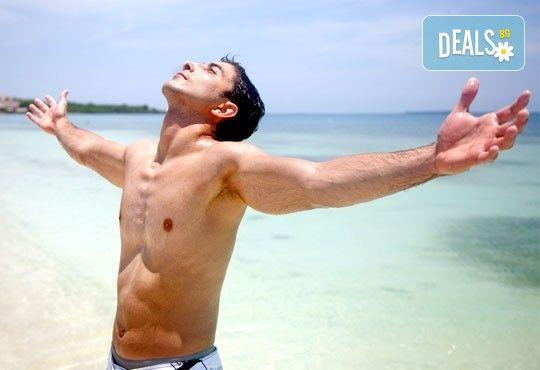 Гладка кожа за мъже с кола маска на зона гърди и корем или цяло тяло от Beauty Studio Platinum - Снимка 1