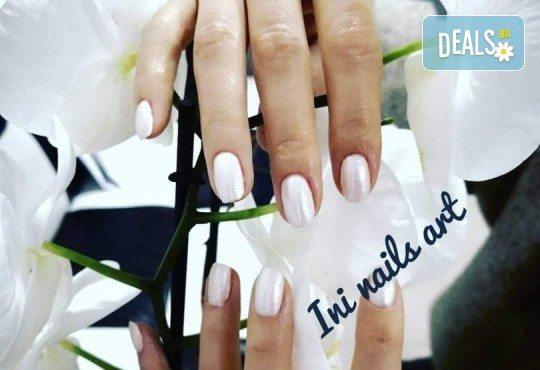 Изящен стил! Дълготраен маникюр с гел лак BlueSky с 2 декорации в Салон Фемили (Inni Nails Art) - Снимка 7