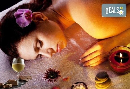 Подарете наслада за Коледа! Пакет от два 60 минутни масажа по избор плюс чаша вино и шоколадово изкушение в Масажно студио Спавел - Снимка 1