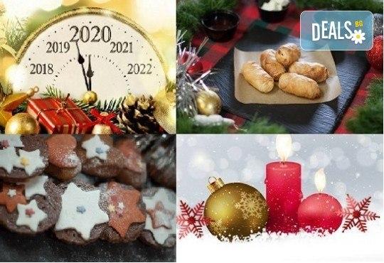 За празниците! Коледен сет с баница с късметчета, паричка, коледни курабии и декорирани меденки от Кулинарна работилница Деличи - Снимка 1
