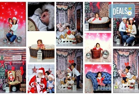 Коледна или зимна фотосесия в студио с 3 различни декора, 160-180 кадъра и подарък Фотокнига, от Photosesia.com - Снимка 1