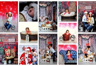 Коледна или зимна фотосесия в студио с 3 различни декора, 160-180 кадъра и подарък Фотокнига, от Photosesia.com - Снимка