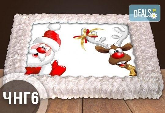 За Нова година! Голяма торта 20, 25 или 30 парчета със снимка от Сладкарница Джорджо Джани - Снимка 2