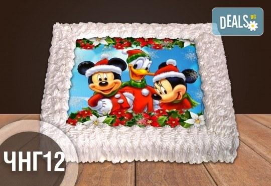 За Нова година! Голяма торта 20, 25 или 30 парчета със снимка от Сладкарница Джорджо Джани - Снимка 3