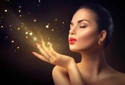 За скъпоценно излъчване! Златна терапия за лице с ултразвуково почистване, златна маска и ампула в студио Нова - Снимка