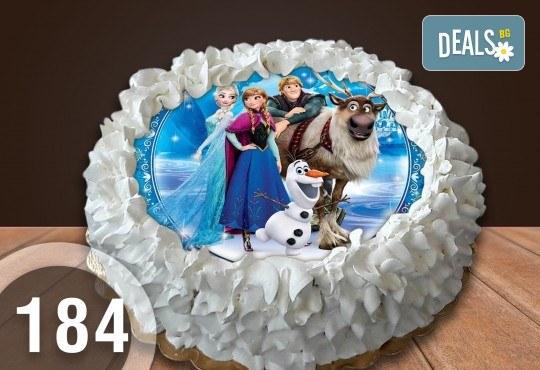 Детска торта с 16 парчета с крем и какаови блатове + детска снимка или снимка на клиента, от Сладкарница Джорджо Джани - Снимка 26