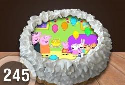 Детска торта с 16 парчета с крем и какаови блатове + детска снимка или снимка на клиента, от Сладкарница Джорджо Джани - Снимка