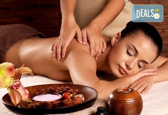 Болкоуспокояващ масаж на гръб и яка със загряващи или охлаждащи продукти от макадамия и натурално какао, Салон Голд Бюти - Снимка 3