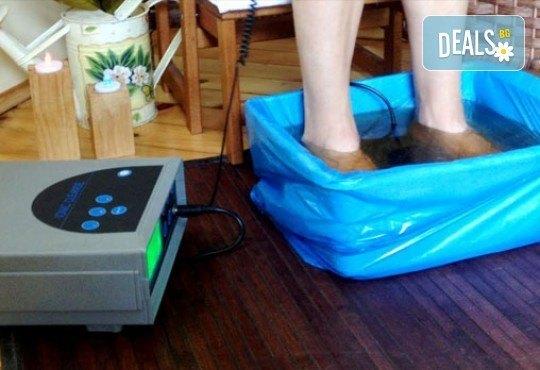 Очистете тялото от токсините с 3 процедури по 30-минути йонна детоксикация в център GreenHealth срещу НДК - Снимка 2