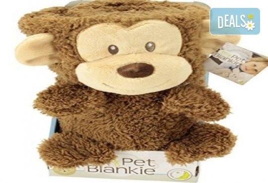 My Pet Blankie 3в1- одеяло, възглавница, плюшена играчка - кафява маймун