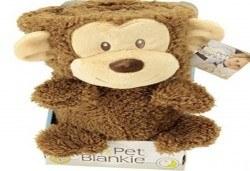 Детска изненада! My Pet Blankie 3в1- одеяло, възглавница, плюшена играчка - кафява маймуна от Toys.bg - Снимка