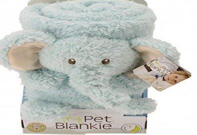 За децата! My Pet Blankie 3в1- одеяло, възглавница, плюшена играчка - синьо слонче от Toys.bg - Снимка