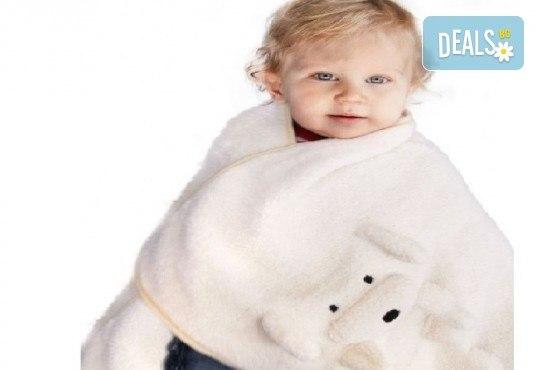 За децата! My Pet Blankie 3в1- одеяло, възглавница, плюшена играчка - синьо слонче от Toys.bg - Снимка 2