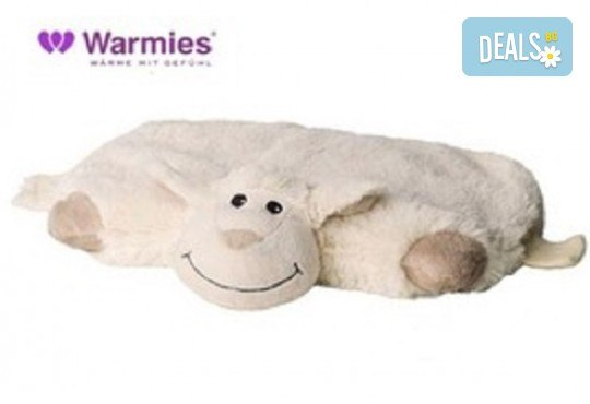 Плюшенa нагряващa се и охлаждащa се възглавница овца от Warmies от Toys.bg