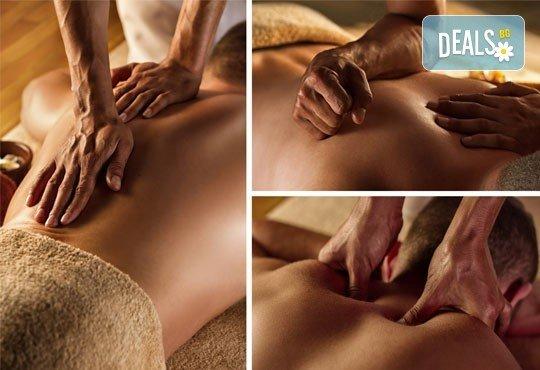 Подарете с любов! Подаръчен ваучер Спа ден за Него: 100 минути дълбокотъканен масаж, тай масаж, зонотерапия и релаксиращ масаж на скалп в Спа център Senses Massage & Recreation - Снимка 2