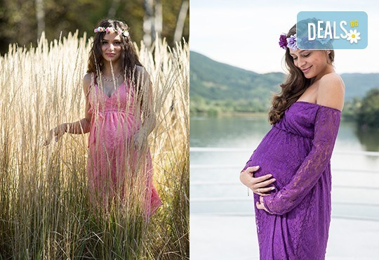 Лято е! Фотосесия за бременни на открито с включени аксесоари и рокли + обработка на всички заснети кадри, от Chapkanov photography - Снимка 5