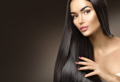 Красиви коси! Боядисване на корени с италианска боя, измиване, прическа със сешоар и бонус: подстригване на връхчета в салон B BEAUTY! - Снимка