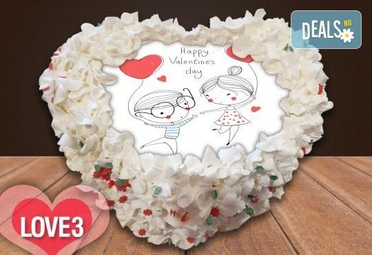 Торта сърце за влюбени! Сърце с любима снимка: 8, 12 или 16 парчета от Сладкарница Джорджо Джани - Снимка 5