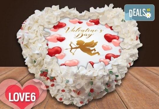 Торта сърце за влюбени! Сърце с любима снимка: 8, 12 или 16 парчета от Сладкарница Джорджо Джани - Снимка 8