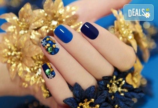 Маникюр с гел лак Gel.it или BlueSky, две декорации и сваляне в Салон за красота B Beauty - Снимка 2