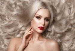 3 в 1 Хиалурон, кератин и ботокс + подстригване с гореща ножица и прическа със сешоар в Салон за красота B Beauty - Снимка