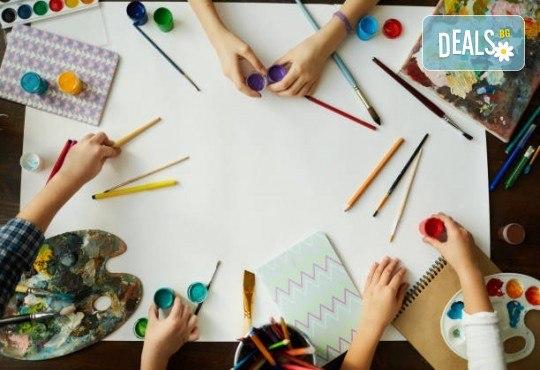 Деца творят красота! Оцветяване на детски картини с пясък (за възраст от 3 г. до 10 г.), до 7 деца в група в Детски център ДЕТЕгледане - Снимка 4