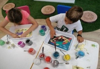Деца творят красота! Оцветяване на детски картини с пясък (за възраст от 3 г. до 10 г.), до 7 деца в група в Детски център ДЕТЕгледане - Снимка