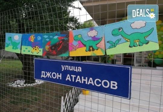 Деца творят красота! Оцветяване на детски картини с пясък (за възраст от 3 г. до 10 г.), до 7 деца в група в Детски център ДЕТЕгледане - Снимка 11