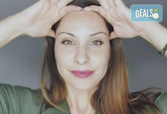 Online Face yoga от 30 август в затворена ФБ група! Специален бленд от йога за лице, самомасаж на лице, акупресура, съвети за грижа за лице от природата от сертифициран преподавател Красиво лице (CTBF200) Яница Илиева - Снимка 1