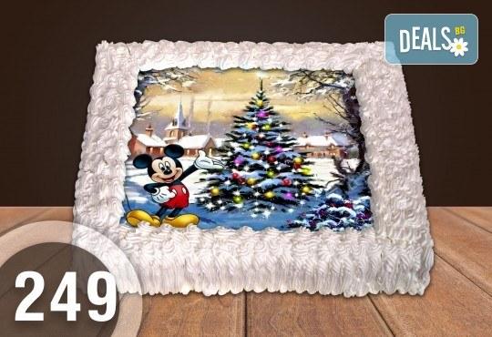 Торта Мики Маус, с друг приказен герой или със снимка на клиента: 8, 12, 16, 20, 25 или 30 парчета от Сладкарница Джорджо Джани - Снимка 57