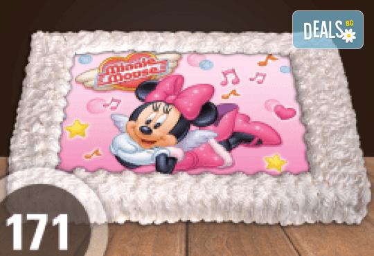 Торта Мики Маус, с друг приказен герой или със снимка на клиента: 8, 12, 16, 20, 25 или 30 парчета от Сладкарница Джорджо Джани - Снимка 3