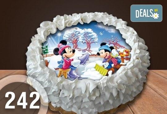 Торта Мики Маус, с друг приказен герой или със снимка на клиента: 8, 12, 16, 20, 25 или 30 парчета от Сладкарница Джорджо Джани - Снимка 8
