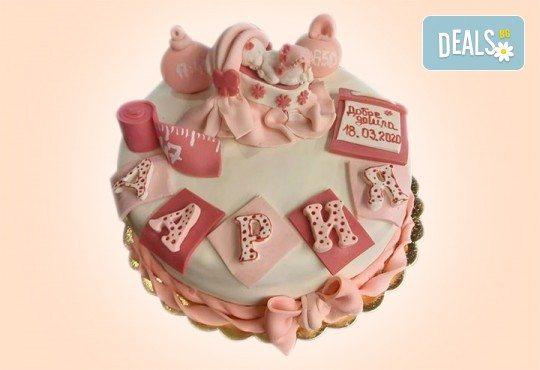 Честито бебе! Торта за изписване от родилния дом, за 1-ви рожден ден или за прощъпулник от Сладкарница Джорджо Джани - Снимка 19