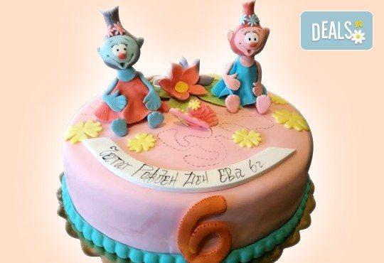 MAX цветове! Детски торти MAX цветове с 2, 3 или 4 фигурки, фотодекорация и апликация по дизайн на Сладкарница Джорджо Джани - Снимка 42
