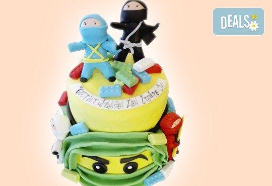 MAX цветове! Детски торти MAX цветове с 2, 3 или 4 фигурки, фотодекорация и апликация по дизайн на Сладкарница Джорджо Джани - Снимка 43