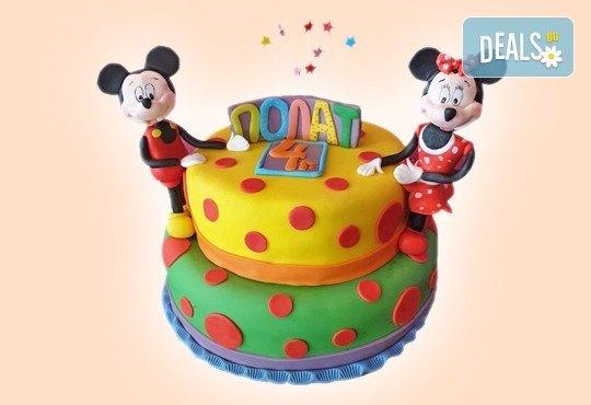 MAX цветове! Детски торти MAX цветове с 2, 3 или 4 фигурки, фотодекорация и апликация по дизайн на Сладкарница Джорджо Джани - Снимка 25