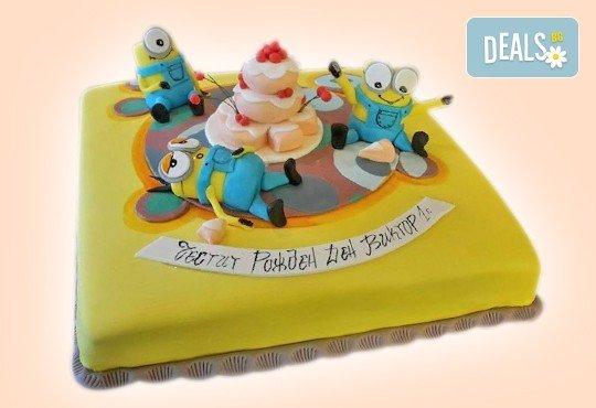 MAX цветове! Детски торти MAX цветове с 2, 3 или 4 фигурки, фотодекорация и апликация по дизайн на Сладкарница Джорджо Джани - Снимка 46