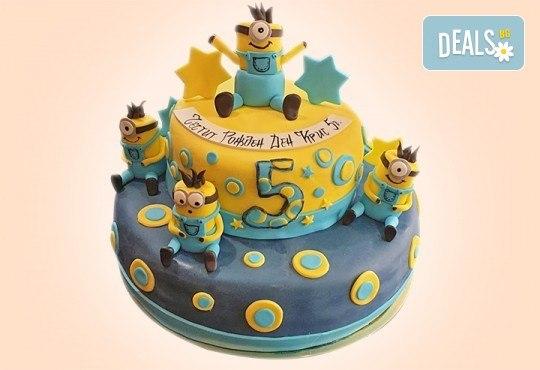 MAX цветове! Детски торти MAX цветове с 2, 3 или 4 фигурки, фотодекорация и апликация по дизайн на Сладкарница Джорджо Джани - Снимка 45