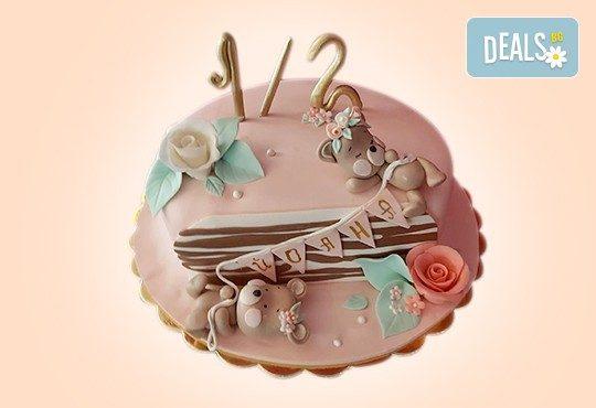 Торта за бебе! Детска фигурална торта 1/2 за бебоци на шест месеца от Сладкарница Джорджо Джани - Снимка 4