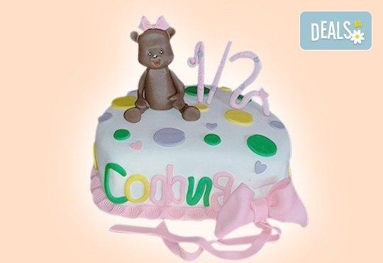 Торта за бебе! Детска фигурална торта 1/2 за бебоци на шест месеца от Сладкарница Джорджо Джани - Снимка 13
