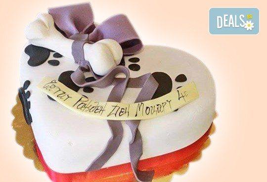 За домашен любимец: торта за Рожден ден на Вашия домашен приятел: куче, котка, рибка или др. с тематична декорация от Сладкарница Джорджо Джани - Снимка 1